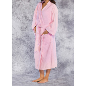 Unisex Premium 100% Turkish Cotton Terry Kimono Bathrobe | Color: Pink | Material: 100% Cotton | Available Sizes: One Size Fits Most (4520PNK)