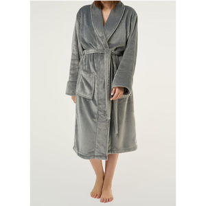 Unisex Super Soft Tahoe Microfleece Shawl Collar Robe | Color: Gray | Material: Microfleece | Available Sizes: One Size Fits Most (6500GRY)