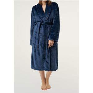 Unisex Super Soft Tahoe Microfleece Shawl Collar Robe | Color: Navy Blue | Material: Microfleece | Available Sizes: One Size Fits Most (6500NAVY)