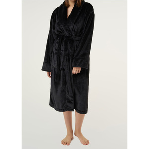 Unisex Super Soft Tahoe Microfleece Shawl Collar Robe | Color: Black | Material: Microfleece | Available Sizes: One Size Fits Most (6500BLK)