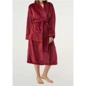 Unisex Super Soft Tahoe Microfleece Shawl Collar Robe | Color: Burgundy | Material: Microfleece | Available Sizes: One Size Fits Most (6500BUR)