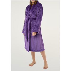 Unisex Super Soft Tahoe Microfleece Shawl Collar Robe | Color: Purple | Material: Microfleece | Available Sizes: One Size Fits Most (6500PUR)