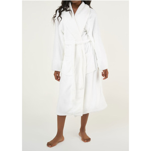 Unisex Super Soft Tahoe Microfleece Shawl Collar Robe | Color: White | Material: Microfleece | Available Sizes: One Size Fits Most (6500WHT)