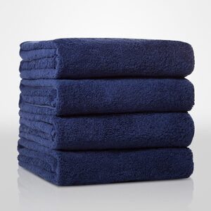 "100% Turkish Cotton Terry Bath Towel | Color: Navy Blue | Material: 100% Turkish Cotton | Size: 35"" x 60"" (TT4002-NAVY)"