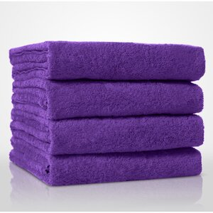 "100% Turkish Cotton Terry Bath Towel | Color: Purple | Material: 100% Turkish Cotton | Size: 35"" x 60"" (TT4002-PUR)"