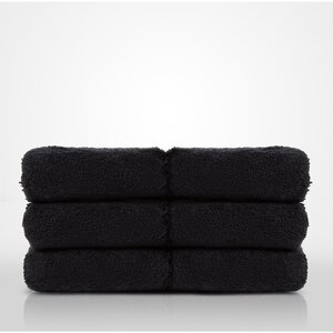 "100% Turkish Cotton Terry Washcloth | Color: Black | Material: 100% Turkish Cotton | Size: 13"" x 13"" (TT4005-BLK)"