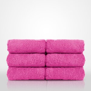 "100% Turkish Cotton Terry Washcloth | Color: Fuchsia | Material: 100% Turkish Cotton | Size: 13"" x 13"" (TT4005-FUS)"