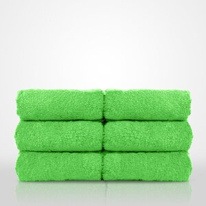 "100% Turkish Cotton Terry Washcloth | Color: Lime Green | Material: 100% Turkish Cotton | Size: 13"" x 13"" (TT4005-LGRN)"