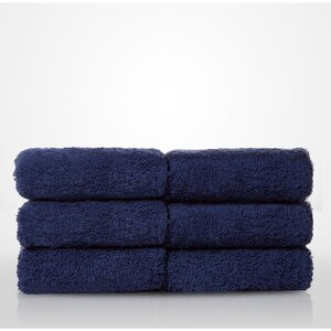 "100% Turkish Cotton Terry Washcloth | Color: Navy Blue | Material: 100% Turkish Cotton | Size: 13"" x 13"" (TT4005-NAVY)"
