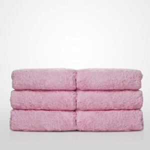 "100% Turkish Cotton Terry Washcloth | Color: Pink | Material: 100% Turkish Cotton | Size: 13"" x 13"" (TT4005-PNK)"