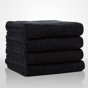 "100% Turkish Cotton Terry Hand Towel | Color: Black | Material: 100% Turkish Cotton | Size: 16"" x 29"" (TT4007-BLK)"