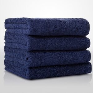 "100% Turkish Cotton Terry Hand Towel | Color: Navy Blue | Material: 100% Turkish Cotton | Size: 16"" x 29"" (TT4007-NAVY)"