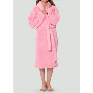 Plush Super Soft Fleece Shawl Kid's Robe | Color: Pink | Material: 100% Polyester Fleece | Available Sizes: Small Medium Large X-Large (2100PNK)