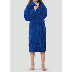 Plush Super Soft Fleece Shawl Kid's Robe | Color: Royal Blue | Material: 100% Polyester Fleece | Available Sizes: Small Medium Large X-Large (2100RBL)