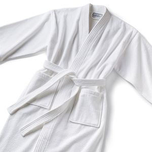 Basic Kimono Robe - Velour 100% Cotton - 14 oz. White (KV1248C)
