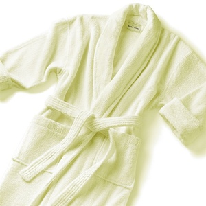 Classic Shawl Collar Robe - Velour 100% Cotton - 14 oz. Ecru (SV1252C)