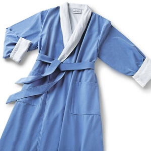 Microfiber Shawl Collar Robe - Wedgewood White Cotton-Poly Lining (MS1152C-W)