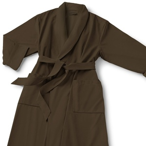 Microfiber Shawl Collar Robe - Chocolate Chocolate Cotton-Poly Lining (MS1152C-PCHOC)