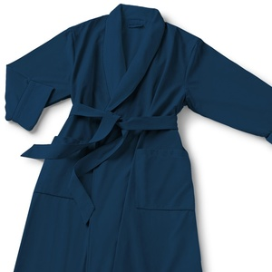 Microfiber Shawl Collar Robe - Navy Navy Cotton-Poly Lining (MS1152C-PNAVY)