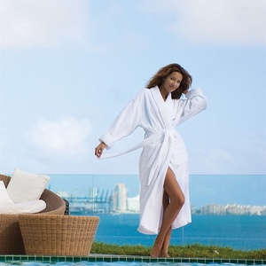 Microterry Shawl Collar Robe White (MTS1252C)
