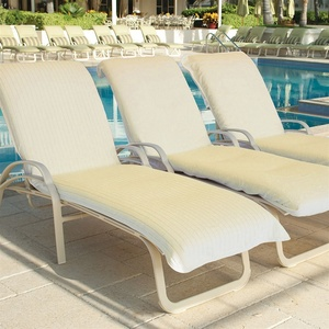 Lounge Chair Cover - Terry With Elastic Hood Ecru (LC9646C)