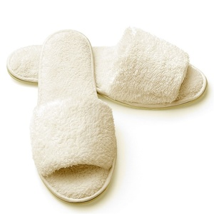 Slippers - Open Toe - Terry Woman's Ecru (3130CWO)