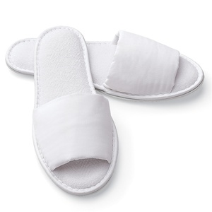 Slippers - Open Toe - Microterry Woman's White (8530CWO)