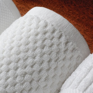 "Towels - Resort Collection - Terry Hand Towel - 16"" x 30"" - 100% Cotton 5.5 Lb. White (11630)"