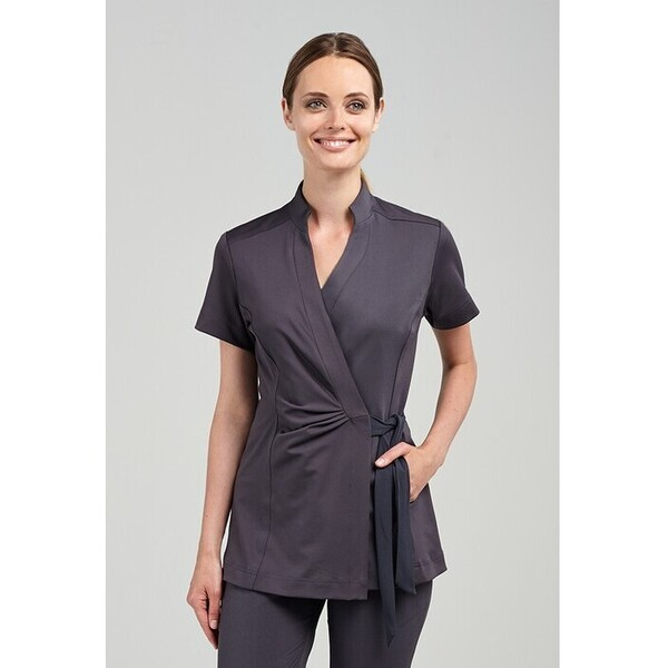 The Andiamo Wrap Woman's Top - Black Charcoal or White (NA218)
