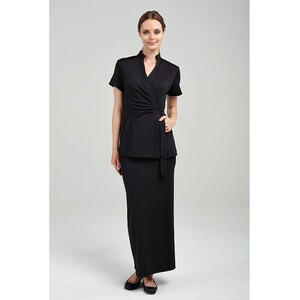 The Geneva Woman's Maxi Length Pencil Skirt - Black (FC005)