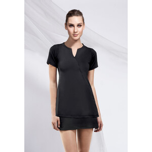 The Elis Woman's Tunic Top - Black (NA921)