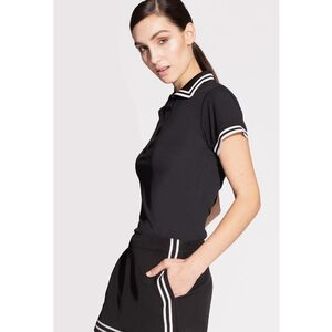 The Women's Pro Polo Shirt with Stripe Collar (NA605R)