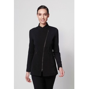 The Jada Woman's Top - Black with Matte Black Zipper (NA115ZB)