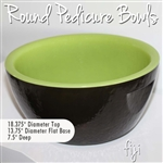 Round Pedicure Bowl Fiji - Two Tone: Espresso Brown Exterior + Sweet Pea Green Interior Durable Resin Material - The New Signature Collection by Noel Asmar (PB1011BG)