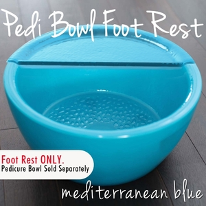 Foot Rest for Round Pedicure Bowl Mediterranean Blue Durable Resin Material - The New Signature Collection by Noel Asmar (PB1012MB)