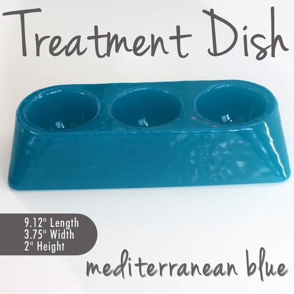 Treatment Dish Mediterranean Blue Durable Resin Material - The New Signature Collection by Noel Asmar (PB1009MB)