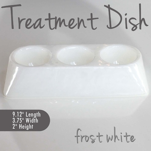 Treatment Dish Frost White Durable Resin Material - The New Signature Collection by Noel Asmar (PB1009FR)