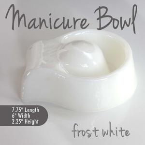 Manicure Bowl Frost White Durable Resin Material - The New Signature Collection by Noel Asmar (PB1010FR)