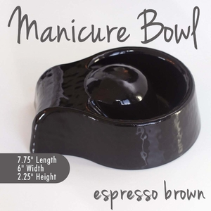Manicure Bowl Espresso Brown Durable Resin Material - The New Signature Collection by Noel Asmar (PB1010EX)