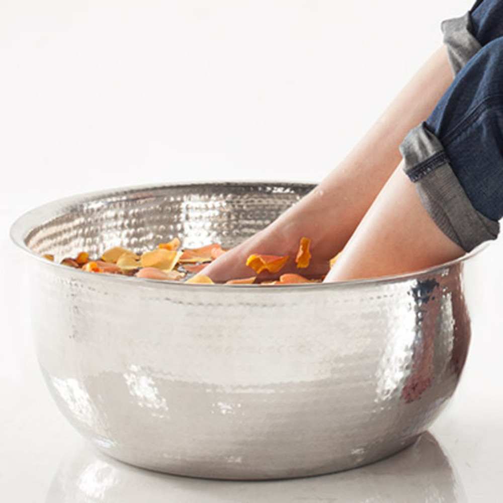 Hand Hammered Stainless Steel Pedicure Bowl 8 Quot Deep