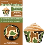 Bakery Quality Cupcake Baking Cups - Camo (32 pieces)