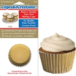 Bakery Quality Cupcake Baking Cups -  Gold (32 pieces)