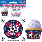 Bakery Quality Cupcake Baking Cups - Soccer (32 pieces)