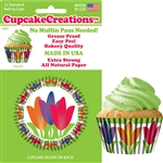 Bakery Quality Cupcake Baking Cups - Tulips (32 pieces)