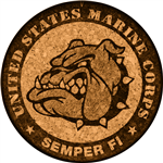 Cork Coaster (USMC Bulldog) by GrafixMat