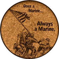Cork Coaster (Once a Marine) by GrafixMat