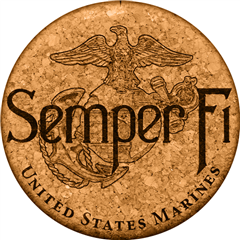 Cork Coaster (Semper Fi USMC) by GrafixMat