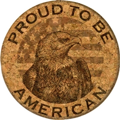 Cork Coaster (Proud to be American) by GrafixMat