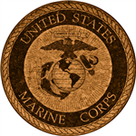 Cork Coaster (United States Marine Corps) by GrafixMat