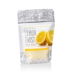 Lemon Twist Salt - 4 oz Zip Top Pouch - Fusion Flavored Sea Salt